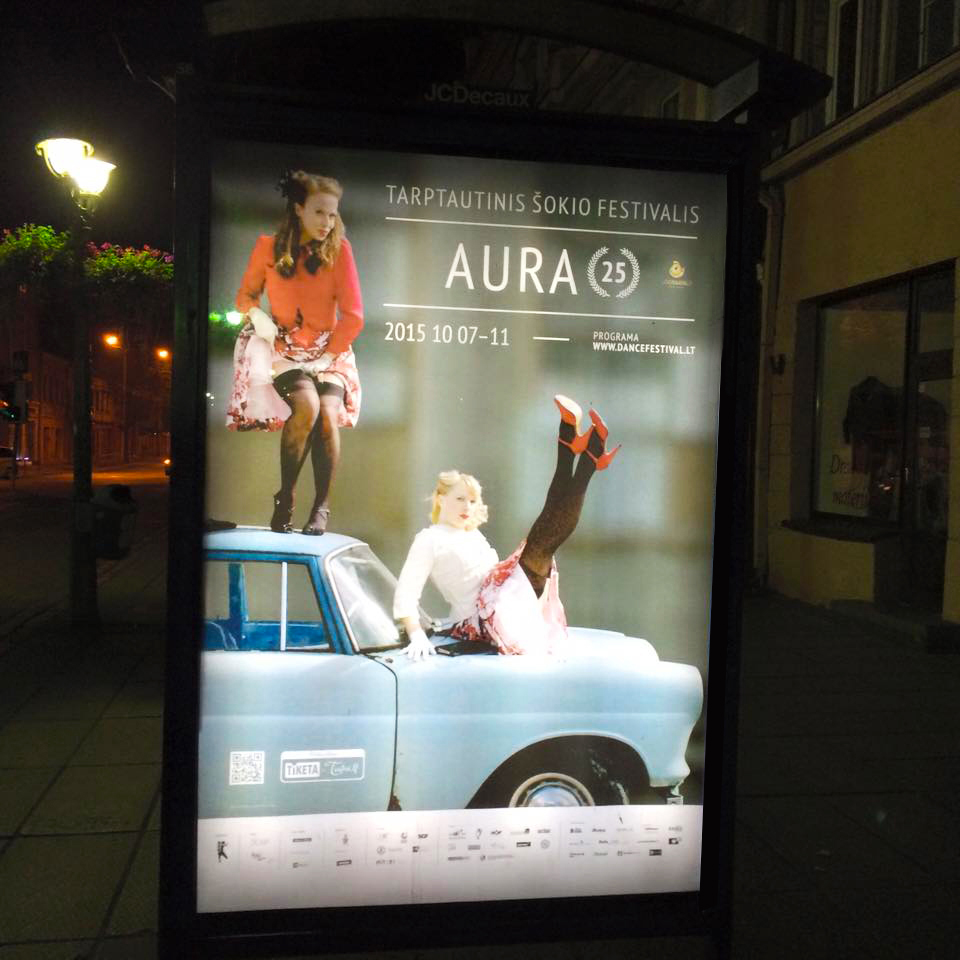 Campaign Image International Dance Festival AURA 2015 (Kaunas, Lithuania)
