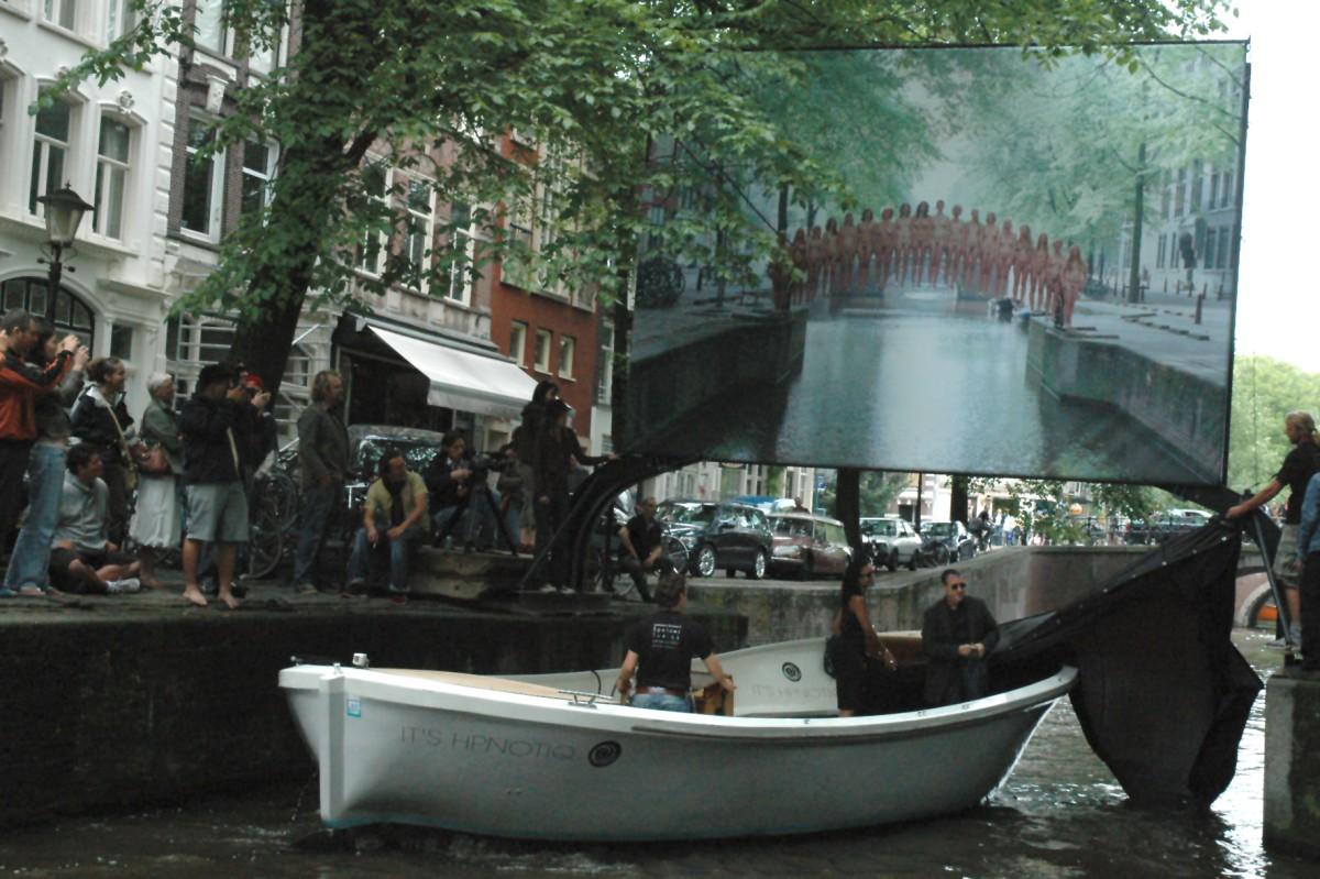 Unveiling Leliegracht, June 2008