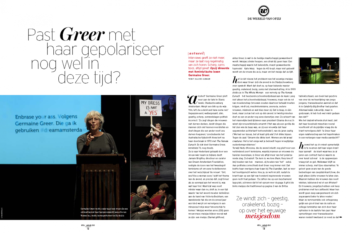 Opzij Magazine, January 2013
