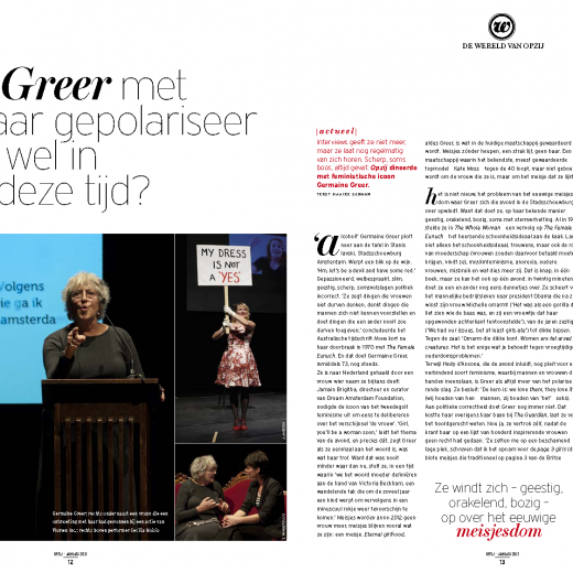 Opzij Magazine, January 2013