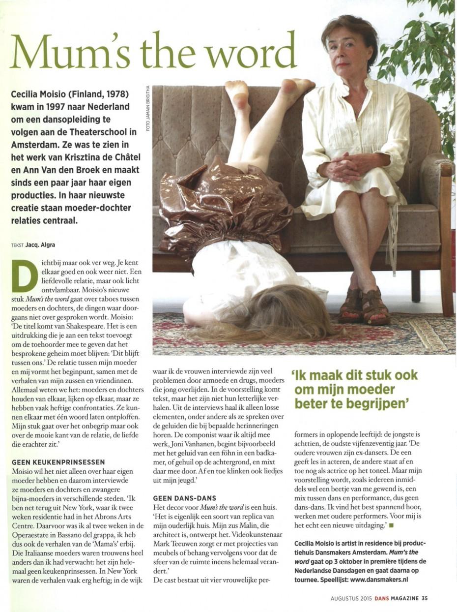 Dans Magazine August 2015